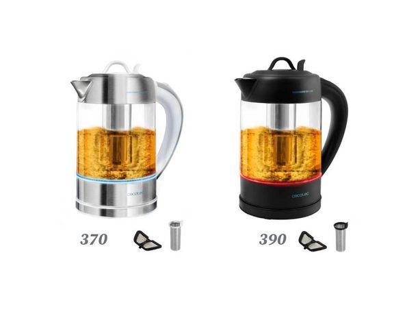 CECOTEC ThermoSense 370/390 Clear, cafeteira e chaleira