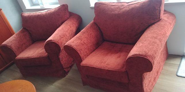 Zestaw kanapa opcja spania, 2x fotel, duża pufa / podnóżek za 50% ceny
