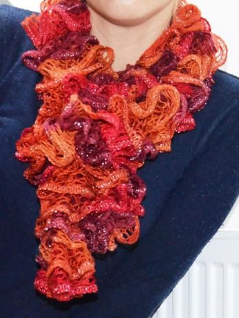 Nowa apaszka szal boa handmade 2 kolory