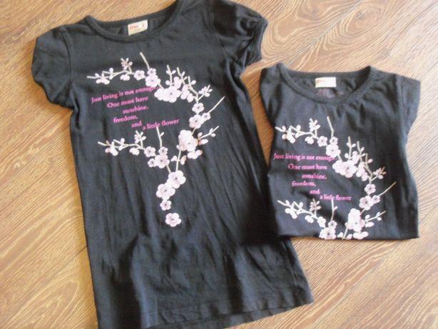 Bluzko-sukienka w z kwiatkami i motylkami