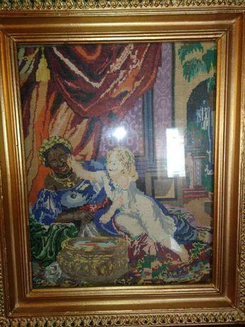 Продам картину вышитую крестом