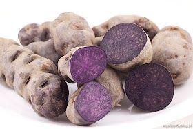 Ziemniaki truflowe, fioletowe ziemniaki