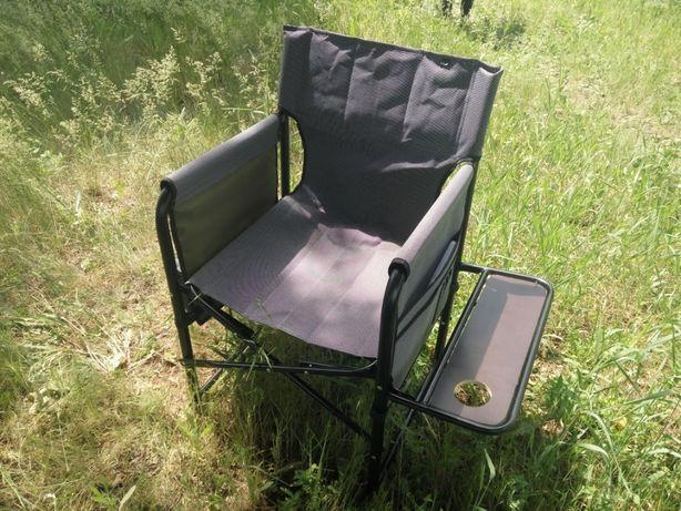 Стул складной Режиссер с твердой полкой кресло для рыбалки и отдыха