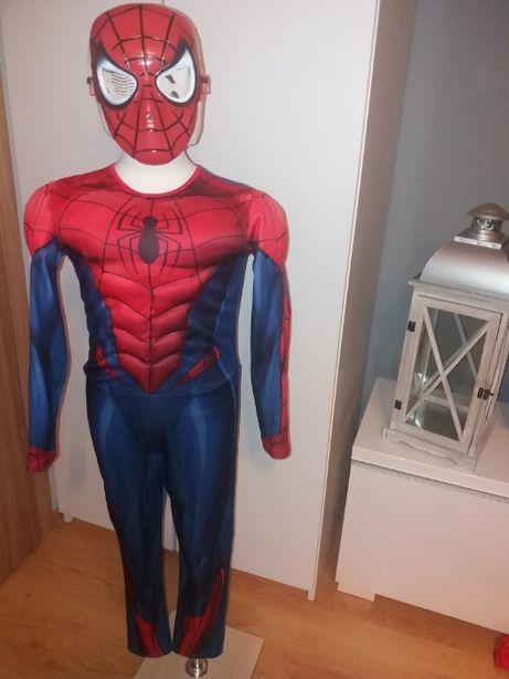 NOWY strój karnawałowy SPIDERMAN MIĘŚNIE przebranie kostium 122/128 13