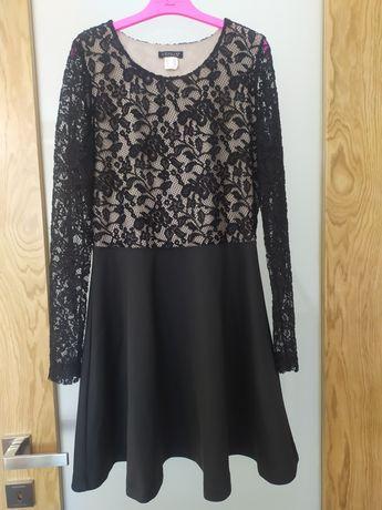 Sukienka okolicznościowa koronkowa czarna Venus ślub/wesele 42