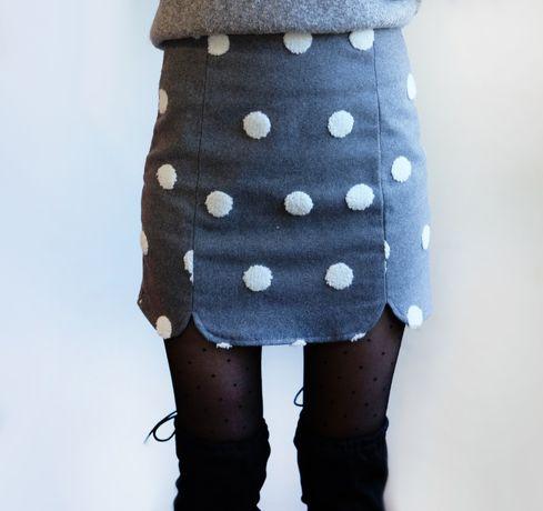 Трендовая юбка в горох