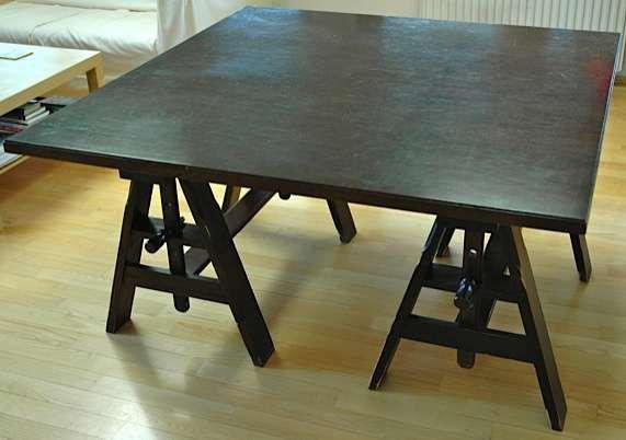 IKEA Stół kwadratowy duży nietypowy 130 x 130 cm lite drewno
