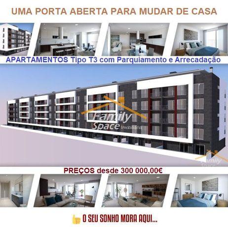 Apartamentos Novos Tipo T3 com Parqueamento e Arrecadação