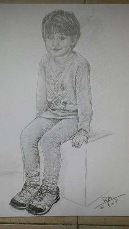 Retratos, ilustração