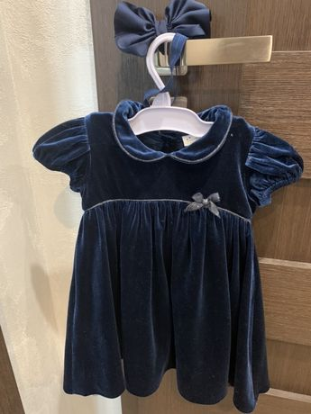 Next sukienka świąteczna z opaska