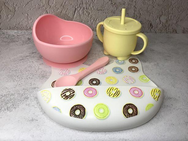 Детская силиконовая посуда/ силиконовая посуда/ силіконовий посуд