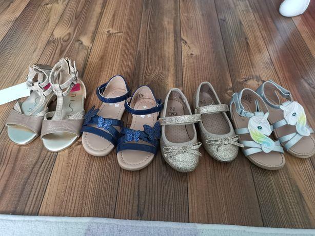Sandałki balerinki zestaw buty dziewczęce nowe rozmiar 25 H&M FF
