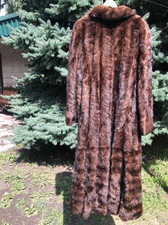 Шуба норковая в пол фирмы zardel furs италия (58-62)
