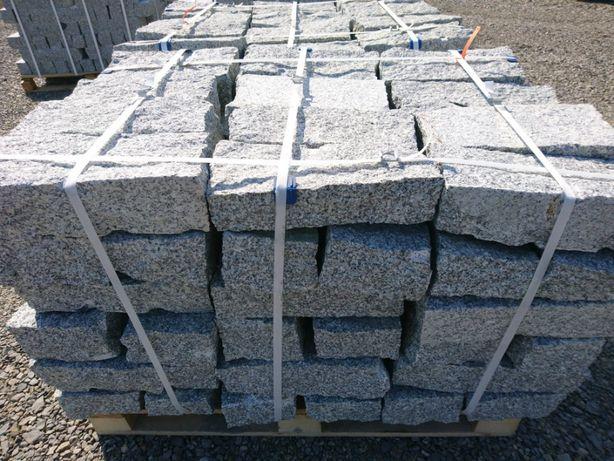 Kamień murowy granit szary szaro-rudy granitowy krawężnik
