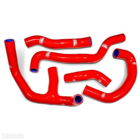 kit tubos radiador samco aprilia rs 250 1998 - 2003 red