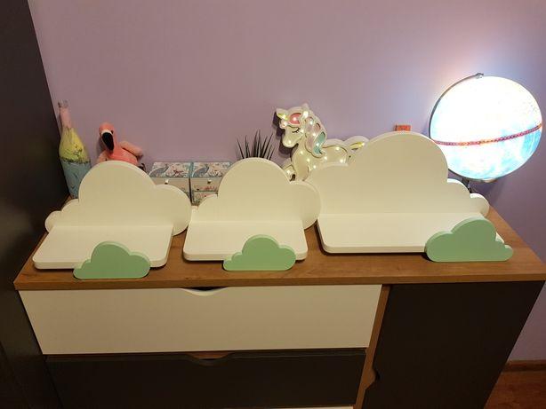 3 półki chmurki biało-miętowe
