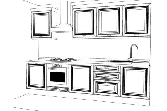 Верхние шкафы кухни Меркс / Merx