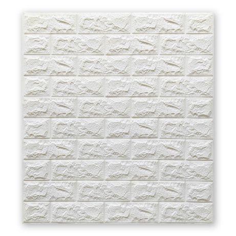 Самоклеящиеся 3D панели белый кирпич