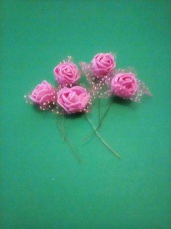 Piękne róże wystrój stołu na ślub urodziny imprezę 10 sztuk