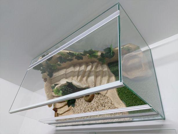 Terrarium AquaWaves nr. kat.TW04PŻ (żółw, wąż, gekon, jeż, agama)