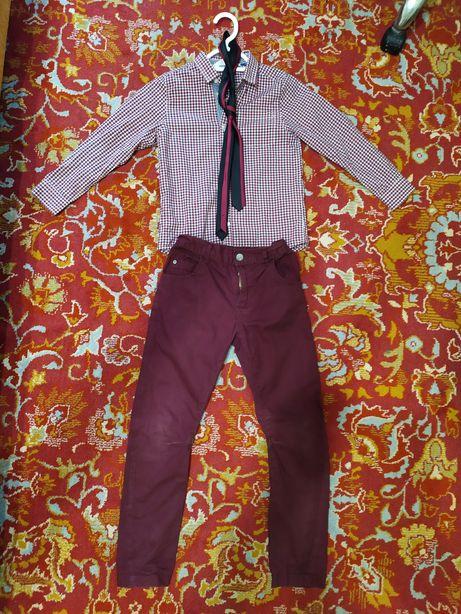 Комплект рубашка+ штаны, галстук.