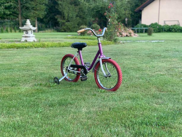 Rower do nauki jazdy dla dziewczynki różowy klasyczny