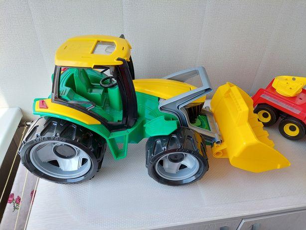 Детская игрушка трактор Lena + пожарная машина