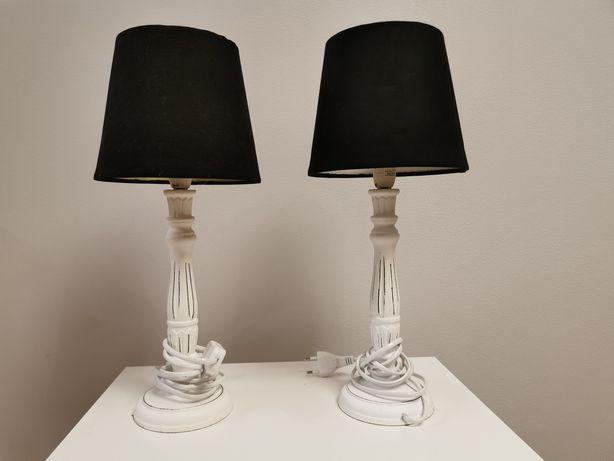 Lampki nocne, czarne abażury 2 szt