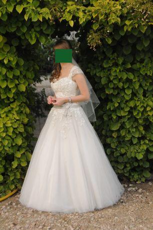 Suknia ślubna Elizabeth Passion, rozm 38, wzrost 160, fason princessa