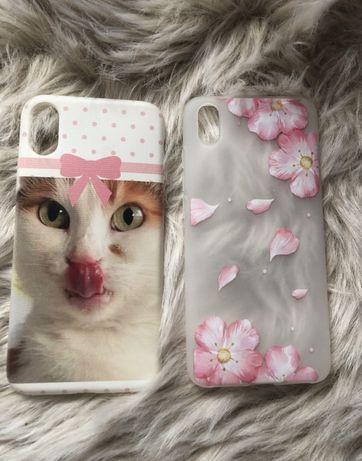 Case etui na telefon xiaomi iphone kot kwiaty