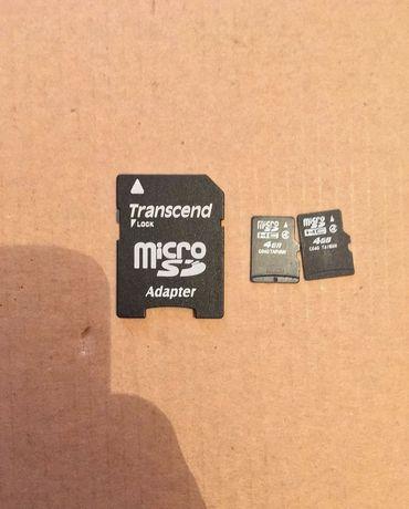 Карта памяти 4гб , microSD 4gb , катрийдер