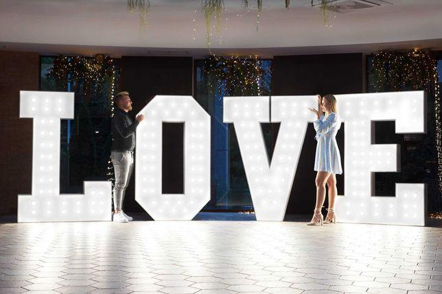 Wielki napis LOVE 180 Gigant, napis Dance, napisy podświetlane