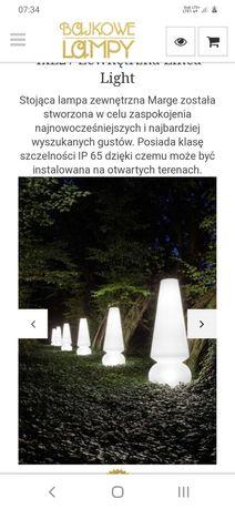 Duża biała lampa ogrodowa Merge firmy LineaLight