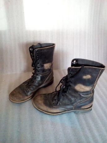 """Ботинки женские в стиле """"панк"""", натурaльная кожа"""