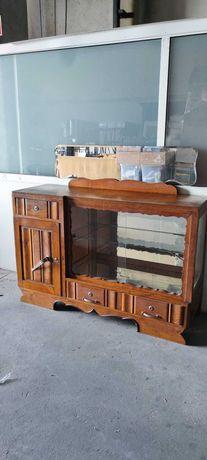 móvel de sala aparador cristaleira vintage