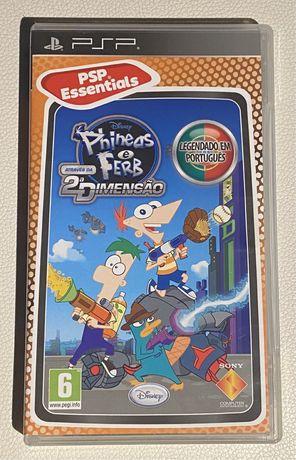 """Jogo Psp """"Phineas e Ferb"""""""