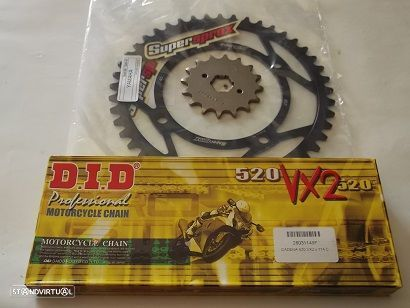 Kit Transmissao corr. DID X-Ring Yamaha XV 250 Virago, XV 250 V-STAR