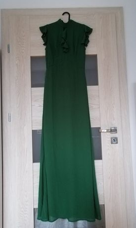 Długa sukienka maxi rozmiar 36 zielona TFNC London