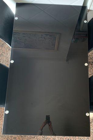 Mesa de vidro preto