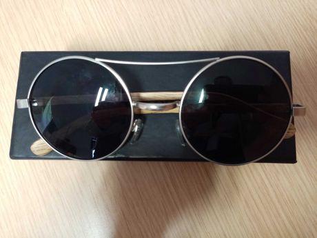 Óculos Velkominn world em madeira