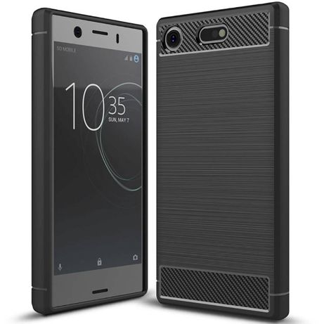 Противоударный чехол Polished Carbon для Sony Xperia XZ1 Compact