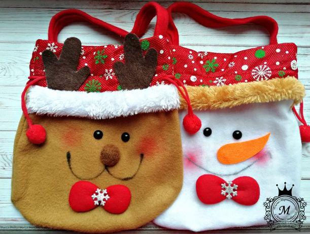 Детская новогодняя сумочка,сумка,носок,сапожок,новогодний,подарок