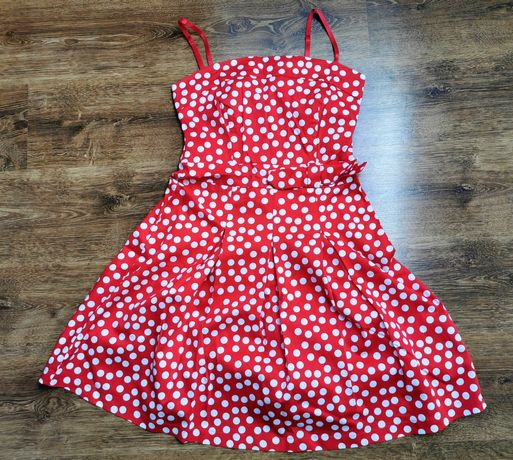 Sukienka Orsay czerwona kropki M