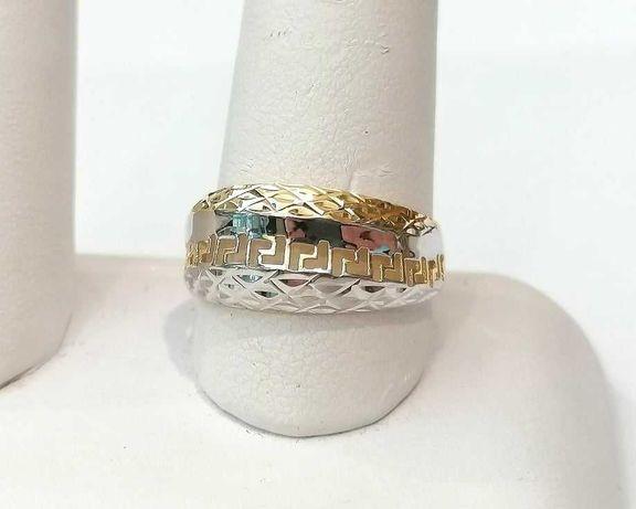 Złoty pierścionek próby 585 waga 1,86g . Rozmiar 20