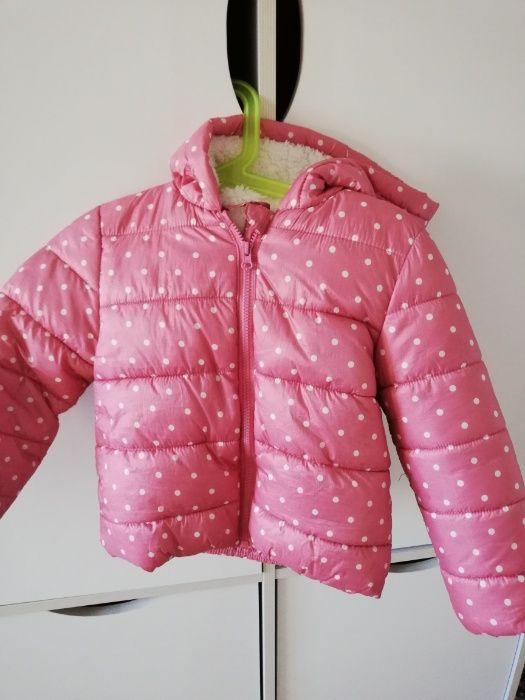 kurtka pikowana zimowa dla dziewczynki 86 Płońsk - image 1