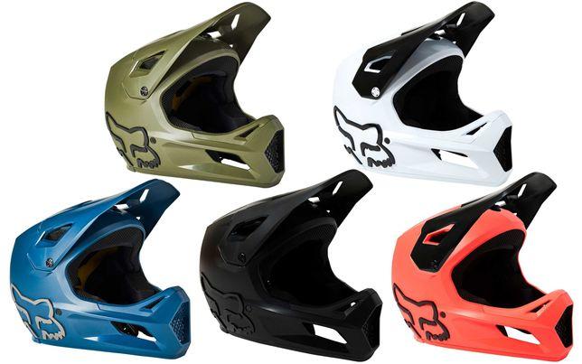 Вело шлем FOX RAMPAGE 2021 ОРИГИНАЛ. Велошлем фуллфейс Freeride/BMX/DH
