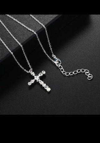Кулон крестик с цепочкой