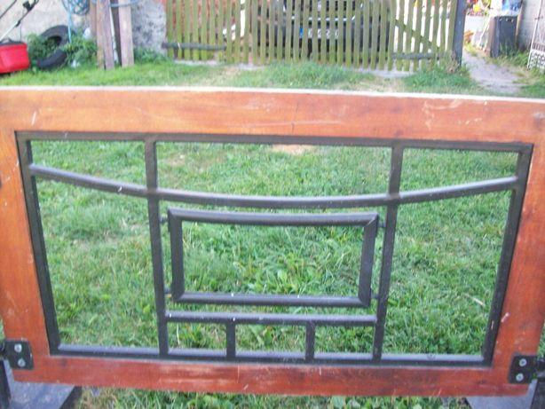 Płotek ogródek metalowo drewniany ogrodzenie płot
