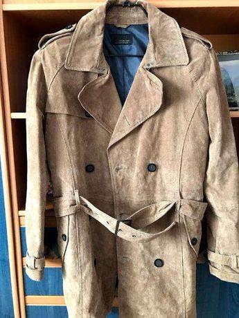 Zara Man Замшевое пальто