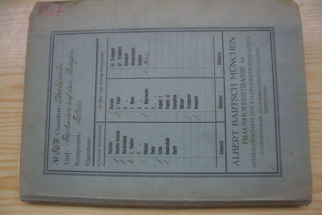 Stare niemieckie przedwojenne wydawnictwa muzyczne